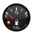 fuel gauge empty tank round black car dashboard vector image vector image