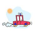 funny cartoon colorful car vector image