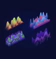 graphs charts isometric set vector image