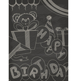 happy birthday greeting card design in vintage sty vector image
