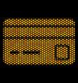 hexagon halftone bank card icon vector image