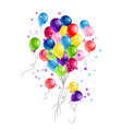 holiday balloons bunch vector image vector image