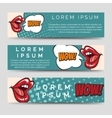 Horizontal banners in pop art style vector image vector image