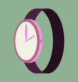 icon in flat design fashion wrist watch vector image vector image