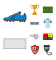 isolated object of soccer and gear symbol vector image