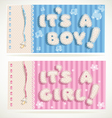 Its a boy and its a girl banners 1 vector image