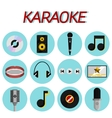 Karaoke flat icon set vector image vector image