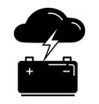 light bolt battery icon simple style vector image