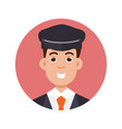 limo driver character icon vector image vector image