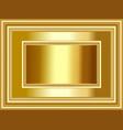 luxury gold photo frame background vector image