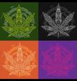 marijuana cannabis leaf textured symbol vector image vector image