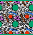 memphis pattern 80s vector image vector image