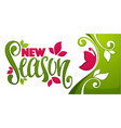 new season spring collection arrival template vector image vector image