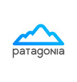 patagonia logo emblem for tour decoration vector image vector image