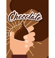 people chocolate candy vector image vector image