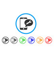 phone service sms rounded icon vector image