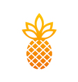 pineapple icon fruit abstract logo vector image vector image