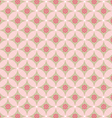 Pink flower in circle seamless pattern vector image