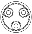 Planetary gear vector image vector image