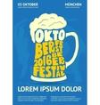 Poster for Oktoberfest Beer Festival vector image vector image