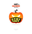 Pumpkin with stay safe face mask concept