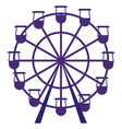 purple carousel on white background vector image