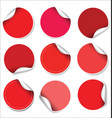 red stickers collection vector image vector image