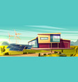 renewable energy for house cartoon concept vector image