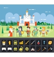 RPG Adventure Mobile Tablet PC Web Game Screen vector image vector image