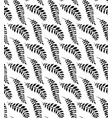 seamless black and white pattern with branches vector image vector image