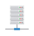 server hosting database icon vector image vector image