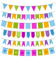 set of colorful garland vector image
