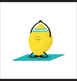 sported lemon on white vector image vector image