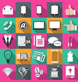 technology icons in flat vector image vector image