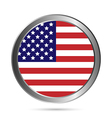 USA flag button vector image vector image
