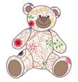 Vintage bear toy vector image vector image