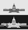 washington capitol symbol vector image