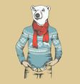 white polar bear vector image vector image