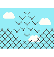 Wire mesh birds flying vector image vector image