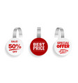 wobblers for discount sale red color sign vector image vector image