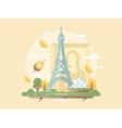 Paris design flat vector image