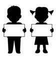 children with blank banner vector image