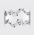 background design with music notes on scales vector image