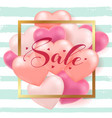 background for valentines day sale vector image vector image