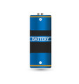 battery charger with finger low batteries and vector image vector image