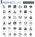 black classic navigation direction maps and vector image vector image