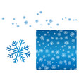 blue snowflake pattern vector image vector image