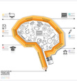 Brain Shape Education And Learning With Pencil vector image vector image