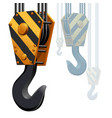 building construction crane hook vector image