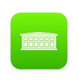 building icon digital green vector image
